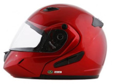 DOT Double Retractable Visor Wine Modular Motorcycle Helmet