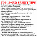 Top 10 Gun Safety Tips Shirt