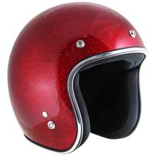 Retro Wine Metal Flake Open Face Motorcycle Helmet