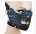 Hannibal Leather Half Face Mask