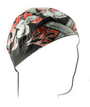 Flaming Crossbones Doo Rag Flydanna