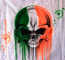 Irish skull airbrushed T-Shirt