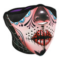 Sugar Skull Neoprene Half  Face Mask