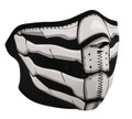 Glow in the Dark Bone Breath Neoprene Half Face Mask
