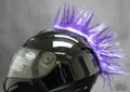 Purple Motorcycle Helmet Mohawk