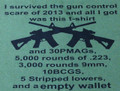 I Survived The Gun Control Scare Of 2013 And I Got Was This Empy Wallet T-Shirt