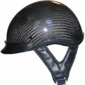 Carbon Fiber Look Shorty Motorcycle Helmet