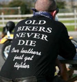 Old bikers never die our leathers just get tighter shirt