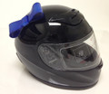 Blue Motorcycle Helmet Bow