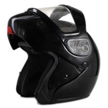 DOT Modular Full Face Black Snowmobile Helmet