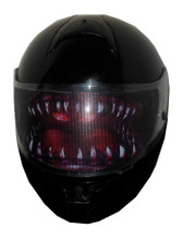 Teeth Motorcycle Helmet Visors Sticker