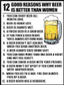 12 reasons why a beer is better than women shirt