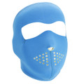 Neon Blue Reverses to Lime Neoprene Face Mask