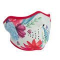 Watercolor Flowers Half Neoprene Face Mask