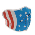 Glow in the Dark, Stars and Stripes Half Neoprene Face Mask