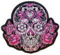 Pink Sugar Skull and Roses Patch
