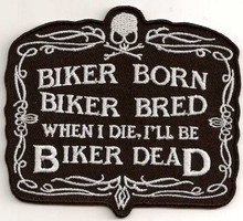 Biker Born Patch