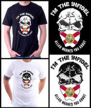 I'm The Infidel Allah Warned You About (Florida State Flag) T-Shirt