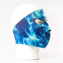 Blue Skull Flame Mask