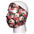 Skull and Roses Full Face Mask