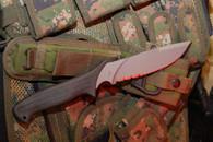 MISSION MPT Titanium fixed blade knife part serrated