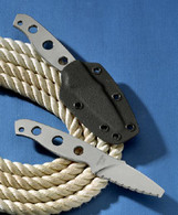 "MISSION MPD-TI 7"" TITANIUM FIXED BLADE KNIFE with cord wrap"