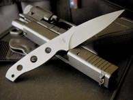MISSION mbk titanium fixed blade knife plain edge.