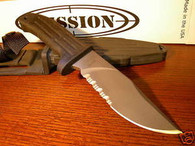 "MISSION MPK-TI 10"" TITANIUM Fixed Blade Knife Serrated FREE US SHIPPING"