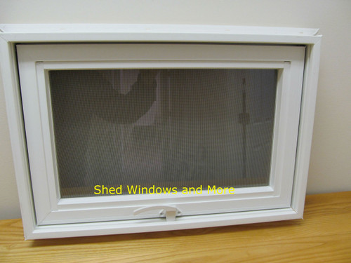 24 x 16 awning insulated glass vinyl window shed for Vinyl insulated windows