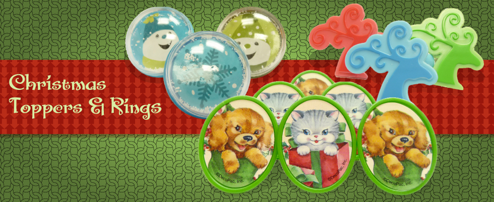 Christmas toppers & rings