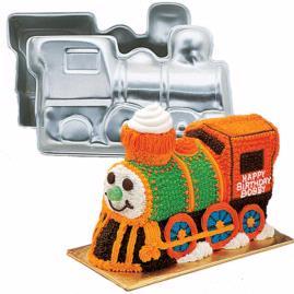 3d train cake pan
