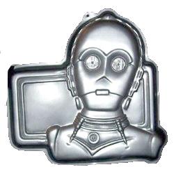 star wars c3p0 cake pan