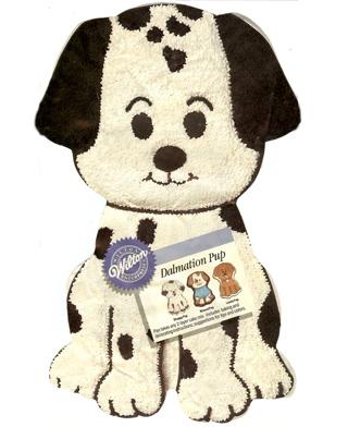 dalmatian puppy cake pan