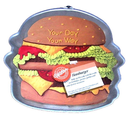 hamburger cake pan