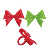 Christmas Bows Cake and Cupcake Toppers ( 6 pc )