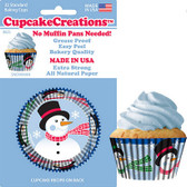 Snowman Cupcake Liners