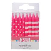 Pink Stripe/ Polka Dot Candles