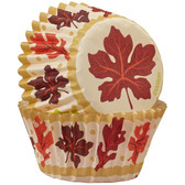 Autumn Leaves Mini Cupcake Liners