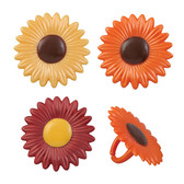 Fall Sunflower Cake and Cupcake Rings ( 6 pcs )