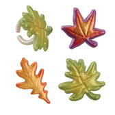 Fall Leaves Cake and Cupcake Toppers