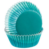 Blue Ombre Foil Cupcake Liners