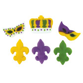 Mardi Gras Assorted Pressed Sugar set