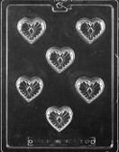 Decorative Heart Chocolate Mold Fill