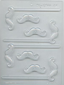 Mustache Small Chocolate Mold Lolly