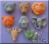 Large Animal Heads Assorted Silicone Mold