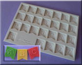 Ribbon Bunting Alphabet Silicone Mold