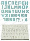 Pixel Script Silicone Mold