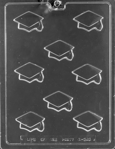 Grad Cap Chocolate Mold