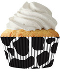Cow patterned cupcake liners