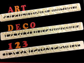 Art Deco Upper Case Letters and Numbers Tappits